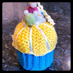 Adorable AnthropologieKnit Muffin Ornament